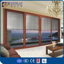 ROGENILAN 120# (auto blinds) heavy duty aluminium frame double glass auto blinds sliding japanese style sliding high speed door