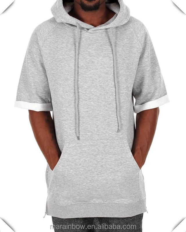 Hoodies buy mens raglan sleeve pullover hoodie with side zippers