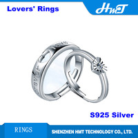 Fashion couple lovers rings S925 Sterling Silver wholesale adjustable size