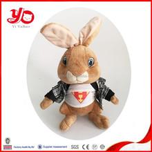 China factory cute plush mini rabbit toy , plush toy brown rabbit for children
