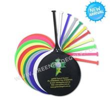 PE golf bag tag with customized logo printing