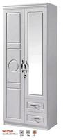 PVC wardrobe designs white color bedroom wardrobe MDF wardrobe