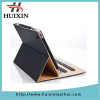 The original blue and tan leather smart cover for iPad 4 genuine leather pad case
