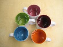 Sall order custom printed Green ceramic cup