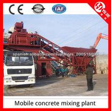 25m3/h Planta de Hormigón móviles de planta mezcladora con una alta eficiencia en la venta