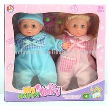 Reborn baby doll double doll toy set kids toy new with 4IC twins nursery Gift Set 12 inches F1209D twins new kids toys for 2012