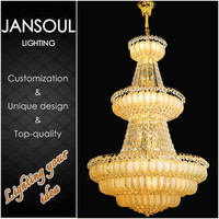 2015 China supplier milan design modern golden pendant lamps crystal chandelier lighting in dubai
