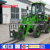 1.2ton 4cylinders engine new hydraulic articulated cheap mini front wheel loader