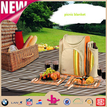 soft feel 100% polyester Eco-friendly picnic blankets/custom picnic blanket/folding picnic blanket