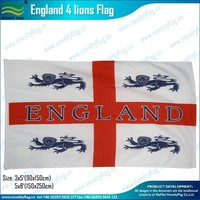 3x5ft 100D polyester England 4 lions Flag