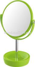 libre de plástico de baño de pie de afeitar de doble lado del espejo