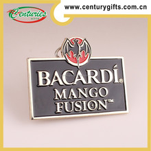 Custom silver metal badge with magnet,the theme of bacardi mango fusion,various designs are accepted