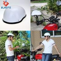 Custom ABS Adult Medium Motorcycle Gloss White Helmet Skull Cap Novelty Low Profile Half Helmets Fit For Chopper Bobber