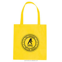 110 Gram Coated Water-Resistant Non-Woven Promotional Tote Bag Pinch bottom no gusset