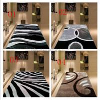 100% Bamboo Silk Ribbed Home Area Carpet