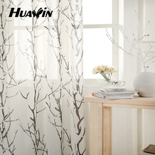 fashion linen/pol printing curtain