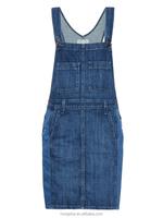 On Alibaba.com Manufacturer 2016 Ladies Summer Women Fashion Cotton Denim Overall Dress HSD8627