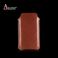 Genuine leather mobile pouch leather case for nokia xl