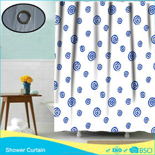 polyester printing screw thread shower curtains small