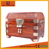 "Famous precious Paorosa ""The Goddess Chang's fly to the moon."" antique handmade Mirror custom wooden Jewelry box wholesale"