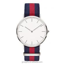 Customized japan movt daninel wellington quartz wrist watch