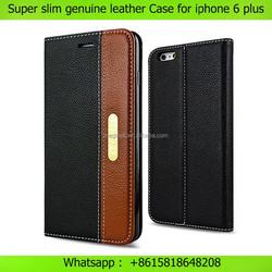 OEM leather phone case super slim flip genuine leather case for iphone 6 plus 4.7 , for iphone 6 case genuine leather