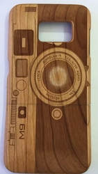Wood Hand Polished Case Wooden Cover Natural Healthy Case for Samsung Galaxy S6 edge