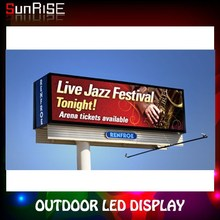 Sunrise full color outdoor led display screen/advertising display from Shenzhen manufacturer