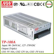Meanwell TP-100A 5V 12V -5V switching power supply 100w