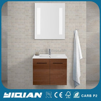 Made In China Modern Furniture Mirrored MDF Cabinet Melamine Bathroom Vanity