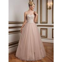 Wholesale Elegant White Pink Ivory Alibaba Sweetheart beaded bodice A Line Wedding Dresses 2015 LW84