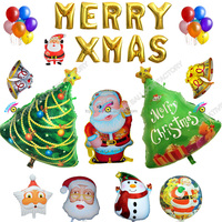 wholesale product Inflatable Christmas Decoration Merry Christmas foil balloon