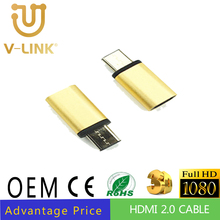 Factory OEM/ODM HDMI extender 3D Blu-ray Full HD 1080 RoHS compliant hdmi to ethernet converter