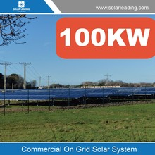 100kw solar panel system with best 100kw solar panel price and pure sine wave solar inverters