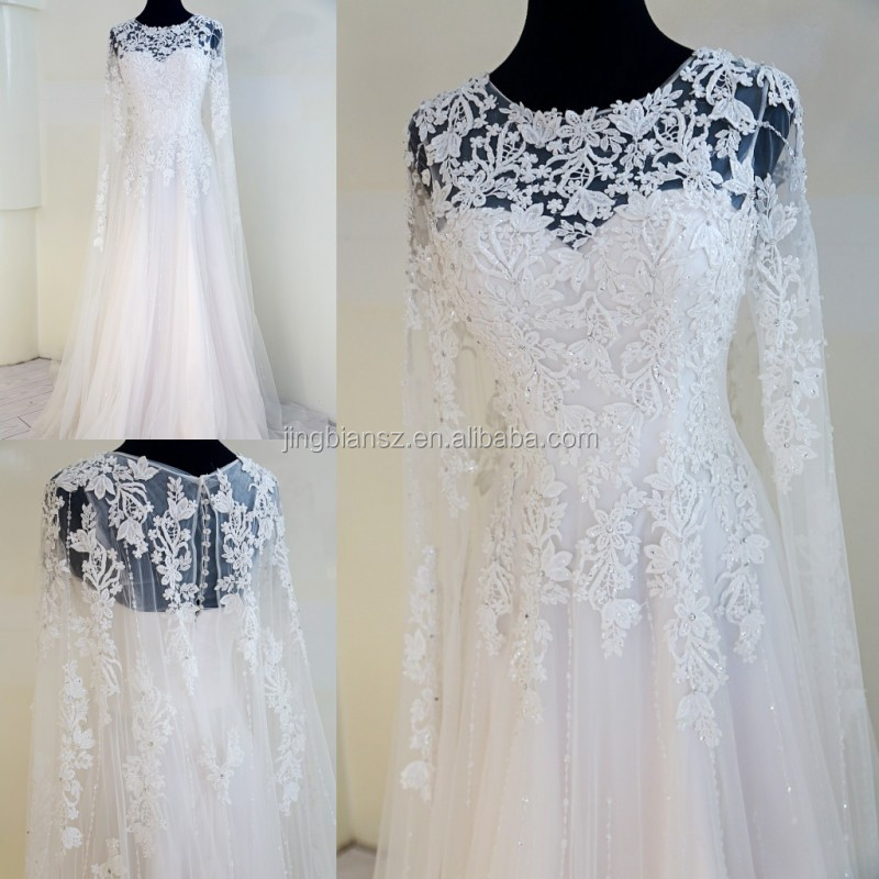 Unique Wedding Dresses With Sleeves : Real sample unique long sleeves lace bridal wedding dress ow