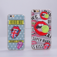 fashion 3d printing clear pvc case for phone