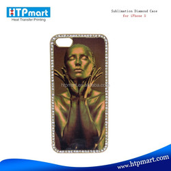 Hot selling sublimation bling pearl diamond crystal phone case for iphone 5C/5S