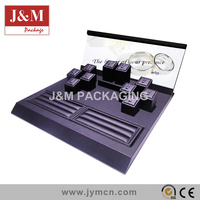handmade pu leather display set for ring quality jewelry display stands