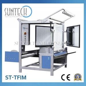 Suntech ce onaylı otomatik tüp kumaş katlama makinası, ışıklı muayene masa