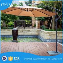 Patio Umbrella Offset 10 ' que cuelga del paraguas exterior paraguas de mercado UG1015