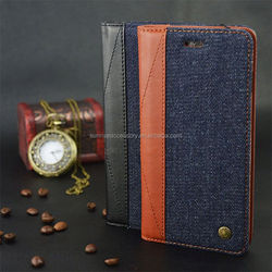 New Arrival Flip Wallet Genuine Leather Case For Iphone 6 Plus Case