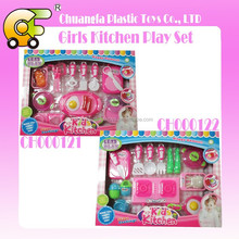 Girls toys plastic cooking set kitchen play set for kids