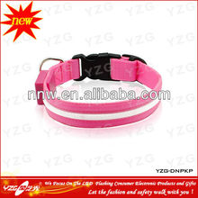 Pink Beauty Led glowing dog collar