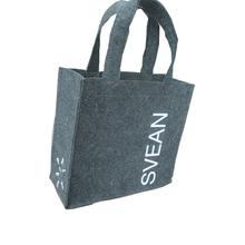 Eco Handmade felt shopping tote Bag, handle felt bag customized