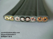 elevator traveling cables Low Voltage 24 core flat electrical elevator traveling wire with steel wires