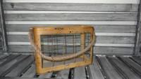 decorative metal lantern with hemp rope handle