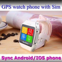 IPS Screen GSM hands free low cost smart watch mobile phone for music play