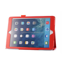 Top quality lychee pattern genuine leather case for ipad air 2 case with belt clip