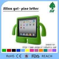 Cute Cartoon Design Silicone Case For Ipad Air, ipad air Silicone cover
