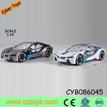 2015 new toy 1:14 RC plastic model car toy with steering wheel with charger and battery